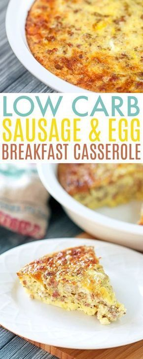 The Best Sausage and Egg Low Carb  Breakfast Casserole