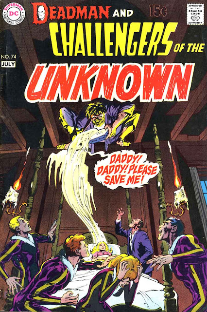 Challengers of the Unknown v1 #74 dc 1970s bronze age comic book cover art by Neal Adams