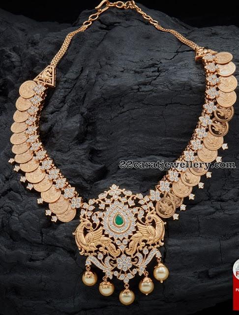 Lakshmi Haram Designs by Navrathan Jewellers