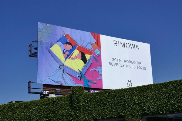 Rimowa designer luggage billboard