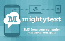 MightyText extension for Google Chrome