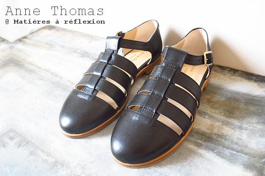 Anne Thomas sandales Portobello noires
