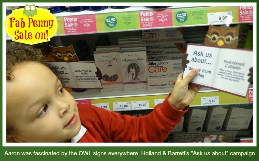 Ask an owl at Holland and Barrett