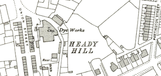 Heady Hill Dye Works, OS map, 1937.