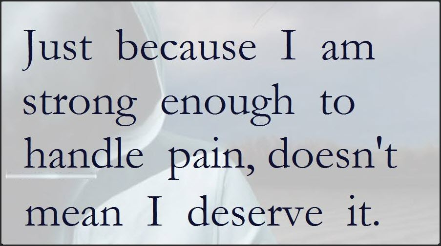 Just because I am strong enough - Staying Alive is Not Enough