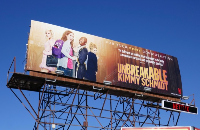 Kimmy Schmidt final episodes Emmy FYC billboard