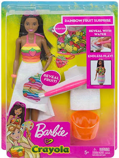 Barbie Crayola Rainbow Fruit Surprise 2019