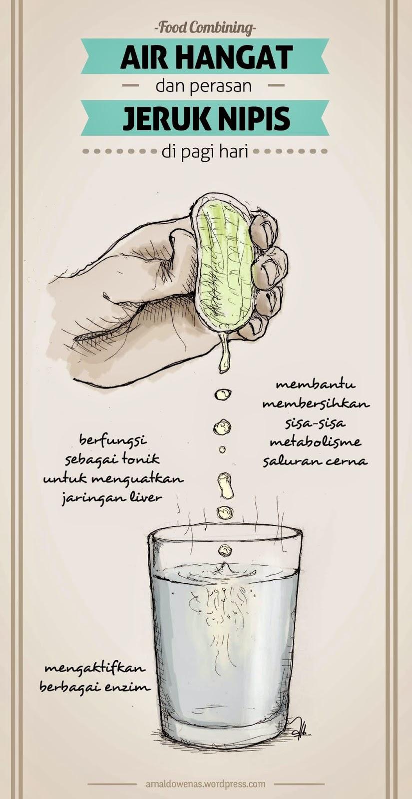 air hangat dan perasan jeruk nipis mengobati maag