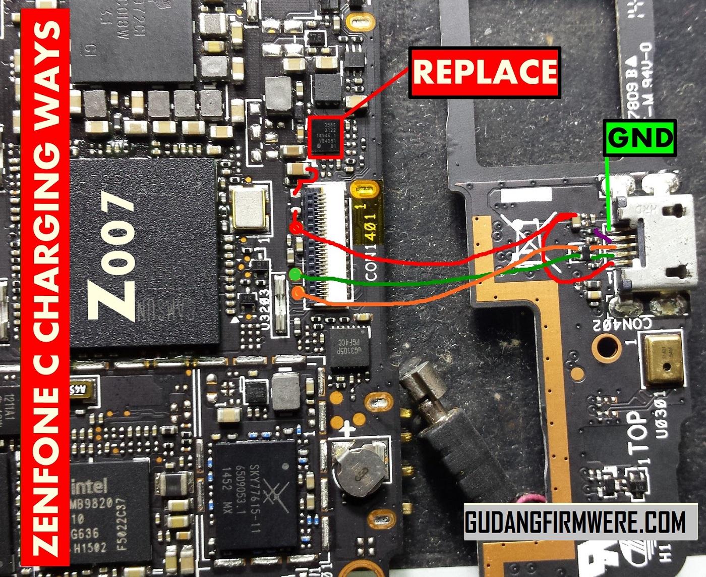 Jalur USB Charger Asus Zenfone Z007