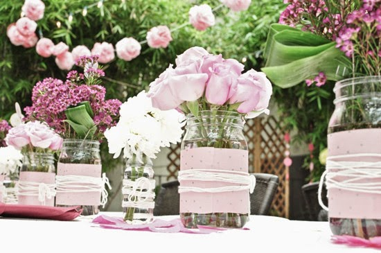 how to decorate mason jar centerpieces for summer wedding