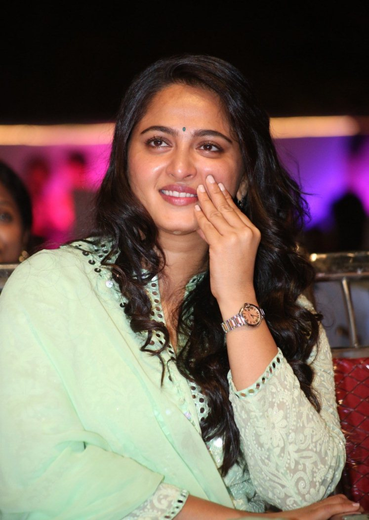 Anushka Shetty At Movie Audio Launch In Green Dress
