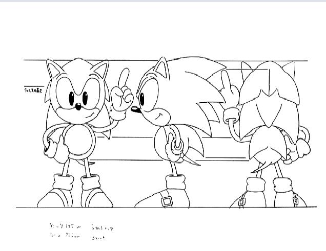 Colorir E Pintar Desenhos Do Sonic