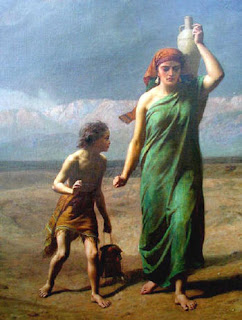 Agar e Ismael - Frederick Goodall