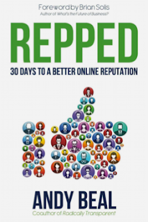 "Cover shot of the book ""Repped"" by Andy Beal"