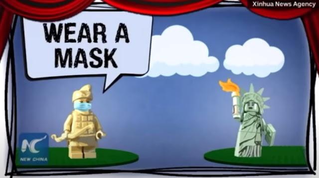Đại dịch Covid-19: Trung Quốc chế nhạo cách chống dịch của Mỹ bằng phim hoạt hình Lego