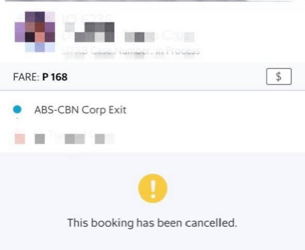 Grab suspends 'solid Kapuso' driver who canceled Jacque Manabat's booking