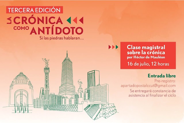 Clase magistral sobre crónica de Héctor de Mauleón en el CCU Tlatelolco