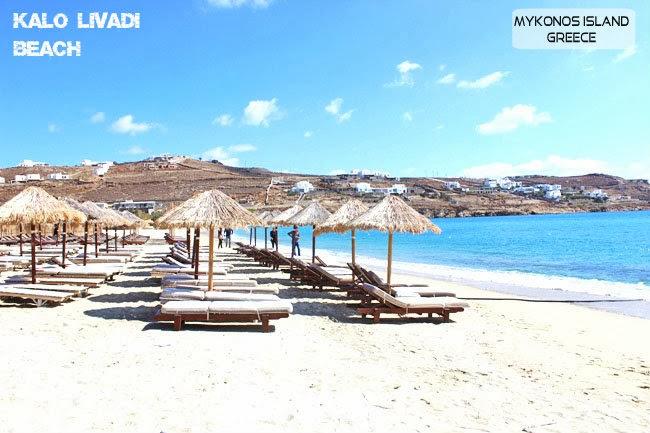 Kalo Livadi beach Mykonos island
