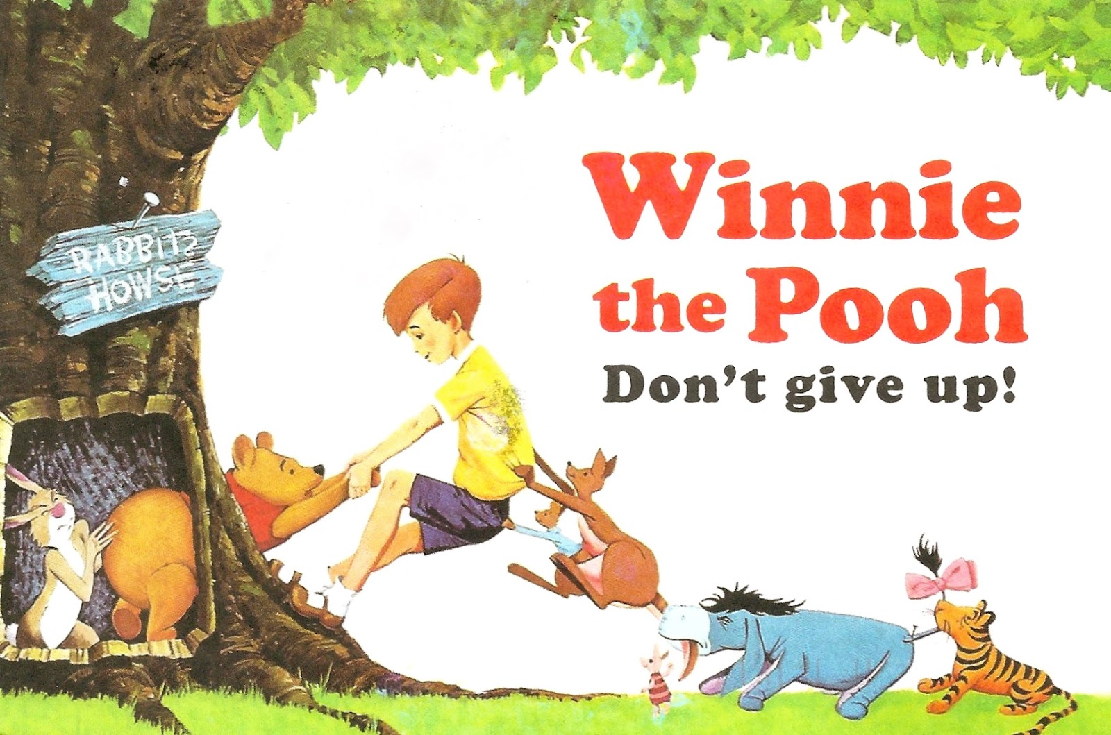 My Favorite Disney Postcards: Winnie the Pooh, Don\'t Give Up