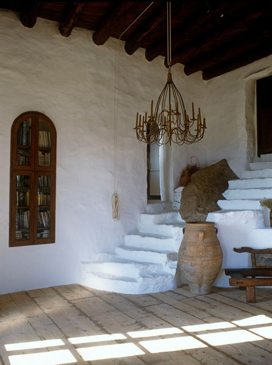 "GREECE - (Heraklion, Crete) -  My Paradissi - shared this image of the home of Vangelis Tsangaris and designer Deborah French in her post:  ""Stone house in Mykonos"" here: http://www.myparadissi.com/2013/06/stone-house-in-mykonos.html .........see all blogs from our Around the World collection here: http://www.pinterest.com/linenlavender/around-the-world-lls-passport-to/  and our link list on linenandlavender.net's main page."