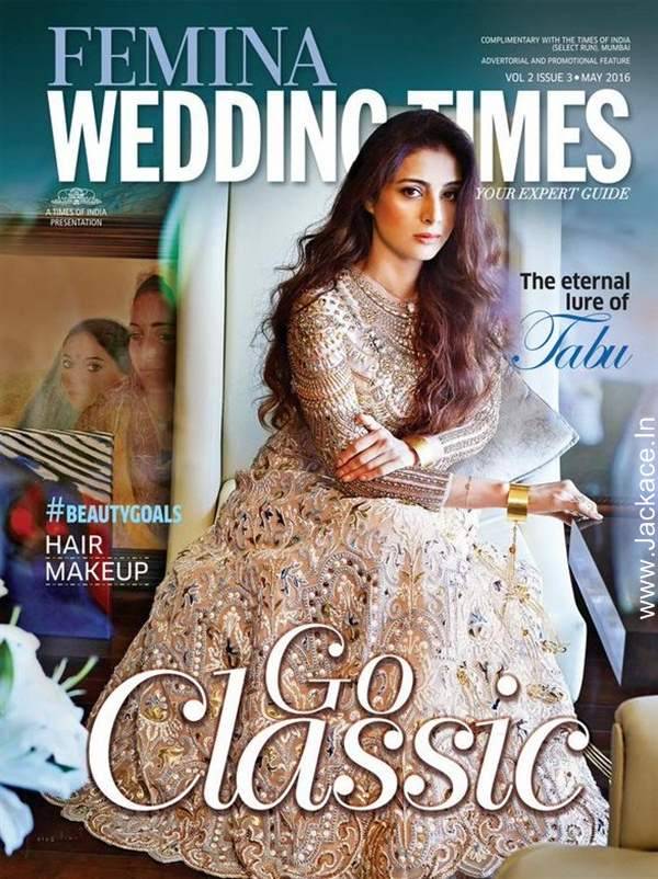 Tabu Looking Classy On The Cover Of Femina Wedding Times