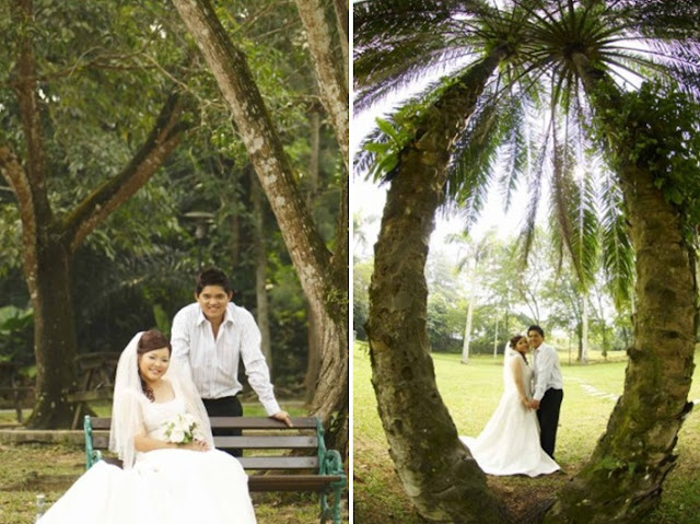 pre wedding photo at a taman