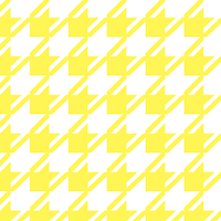 yellow dogtooth pattern