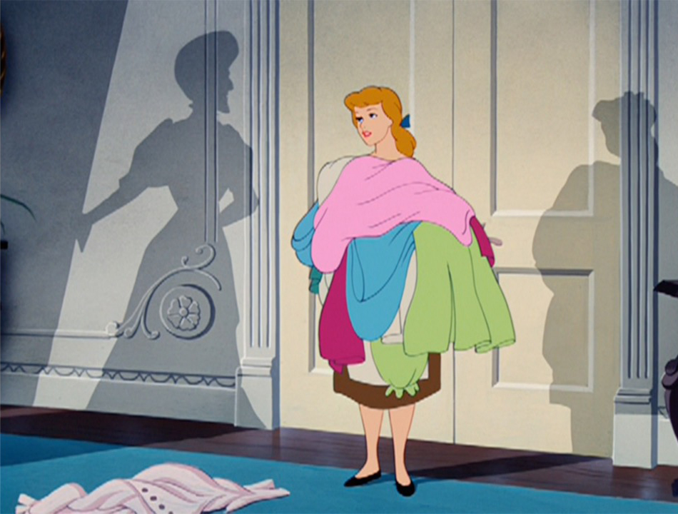 Cinderella burdened with laundry