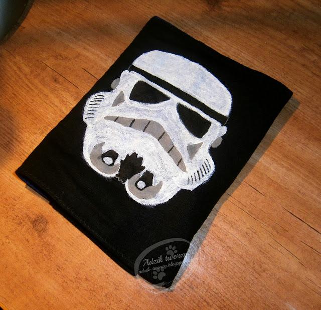 Okładka na zeszyt Star Wars szturmowiec ręcznie malowana