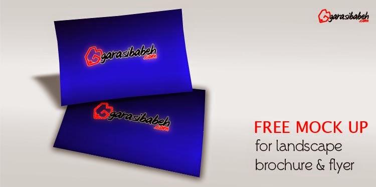 free mockup landscape brochure brosur flyer gratis
