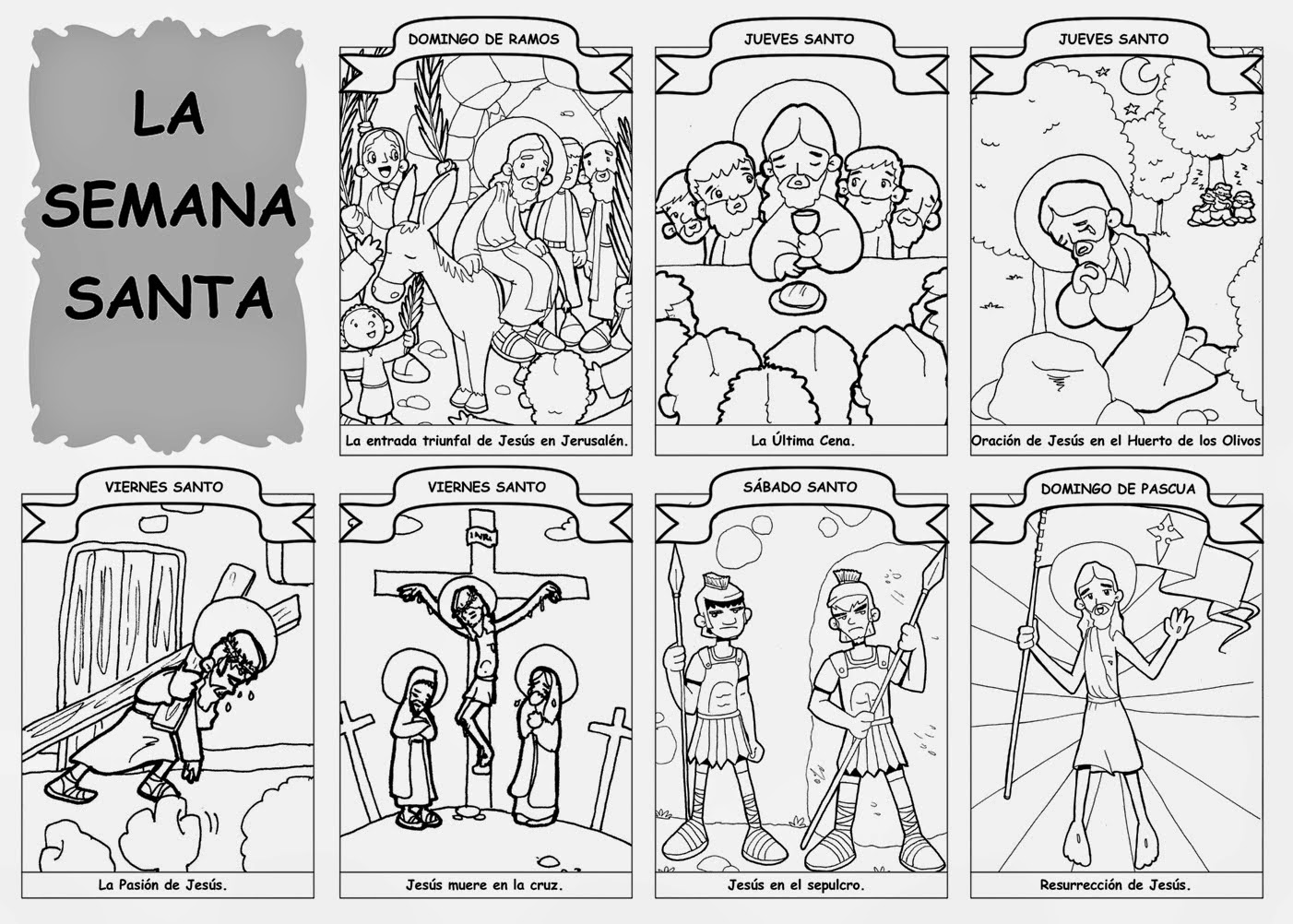 SEMINARIO DE RELI: Dibujos para colorear de Semana Santa