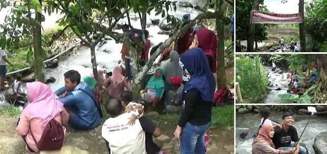 Serunya Bermain Air Lereng Gunung Anjasmoro di Ecowisata Banyu Mili