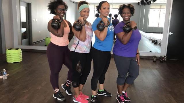 kettlebell workout class for women