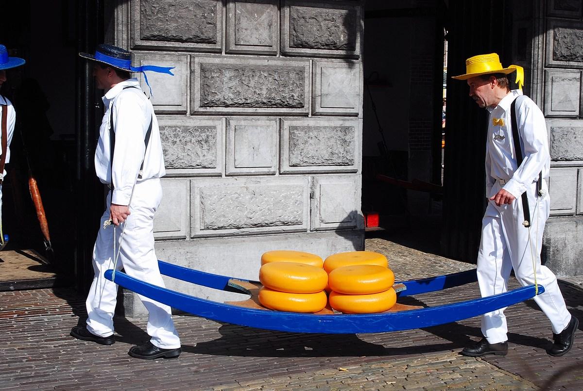 marché au fromage d'Alkmaar