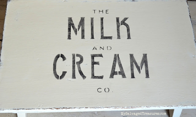 milk and cream stencil from Knick of Time