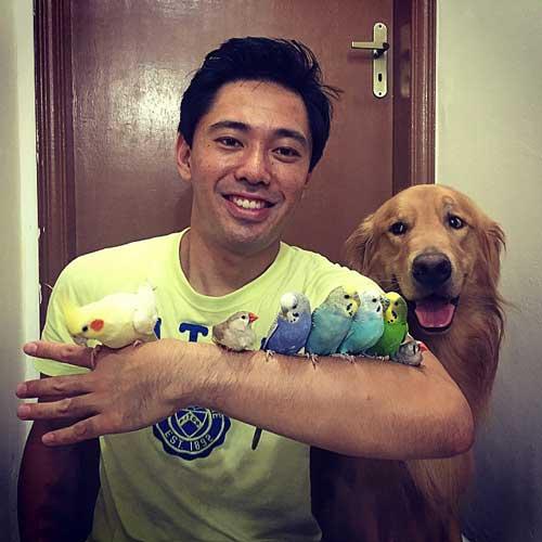 Persahabatan Anjing Hamster Dan Burung