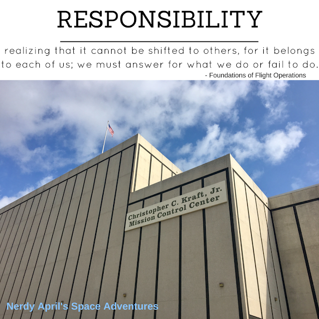 Responsibility as defined by the Foundations of Flight Operations.