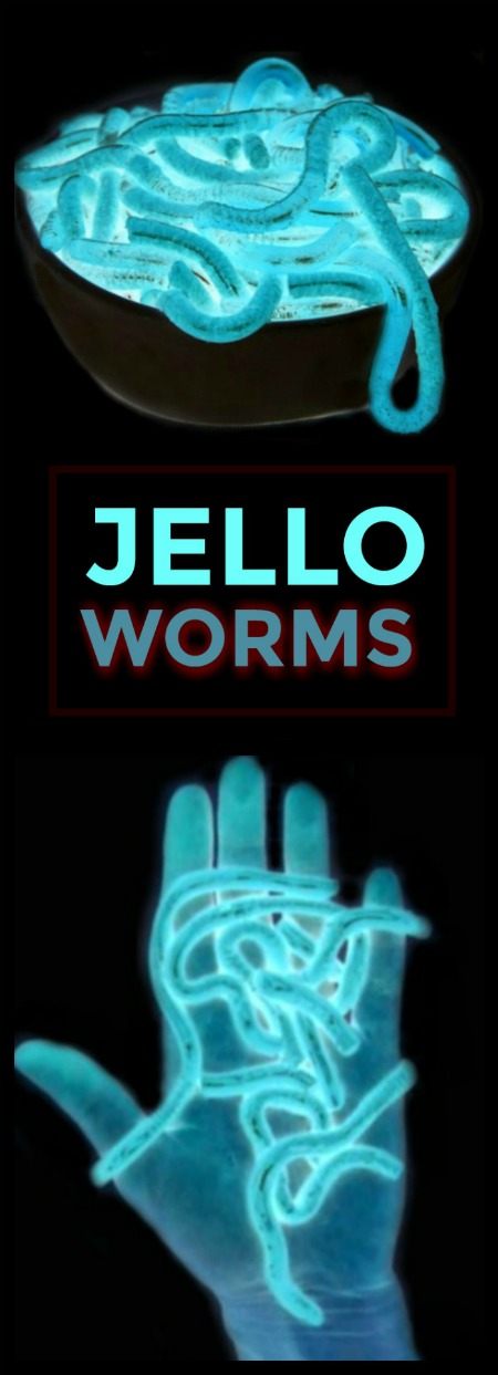 DIY GLOWING JELLO WORMS.  EEK!  These are so cool!  Can't wait to try!