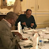 Pres Buhari and Ogun state governor, Ibikunle Amosun pictured having dinner in the UK