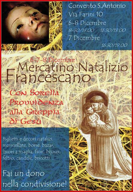 6-7-8 dicembre Mercatino Natalizio Francescano