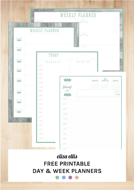 The Ultimate Free Printable Day and Week Planners by Eliza Ellis