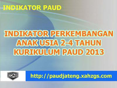 Indikator PAUD Usia 2-4 Tahun PERMEN 146 2014 Terbaru