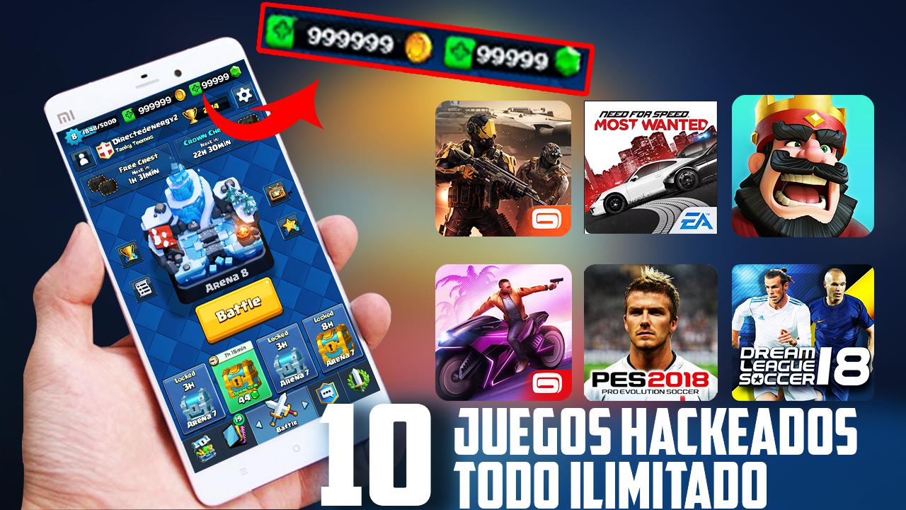Top 10 Juegos Hackeados Para Android 2018 Todo Ilimitado Juegos