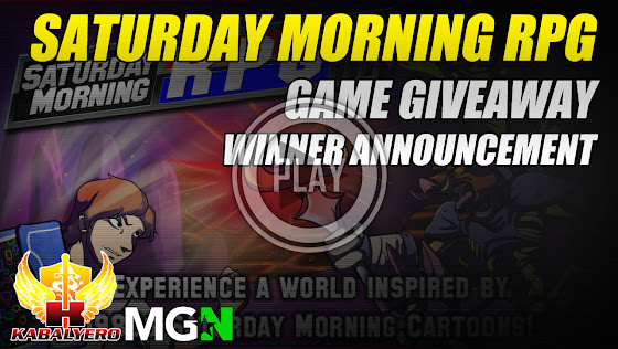 Saturday Morning RPG Game Giveaway Winner Announcement
