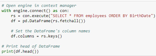 Relational Database in Python-SQLite
