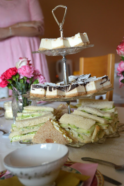 High Tea, Baby Shower, Baby Girl, Cucumber Sandwiches