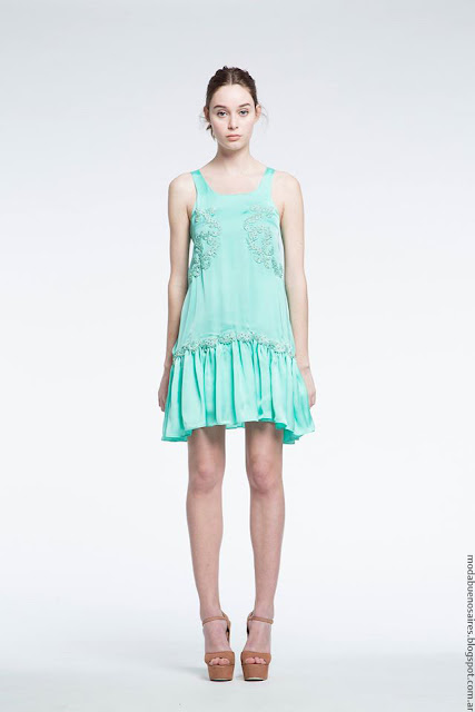 Moda verano 2017 Natalia Antolin moda vestidos de fiesta cortos.