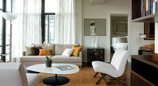 Eight Hundred Sq Ft Small Space Solutions - 8 Rules for Stylish - small scale living room furniture