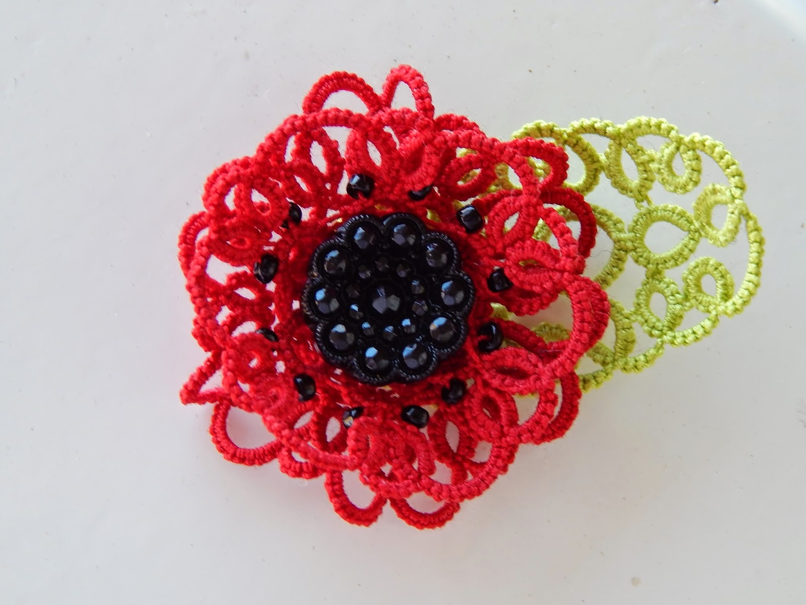 Carollyn S Tatting Blog Another Poppy