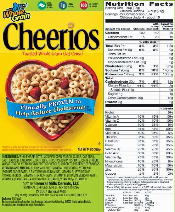 Low Salt Low Fat Eating: Sodium Content Of Cheerios